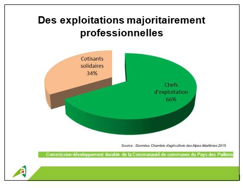 Des exploitations majoritairement professionnelles