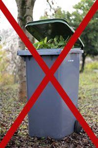 poubelle végétaux interdits